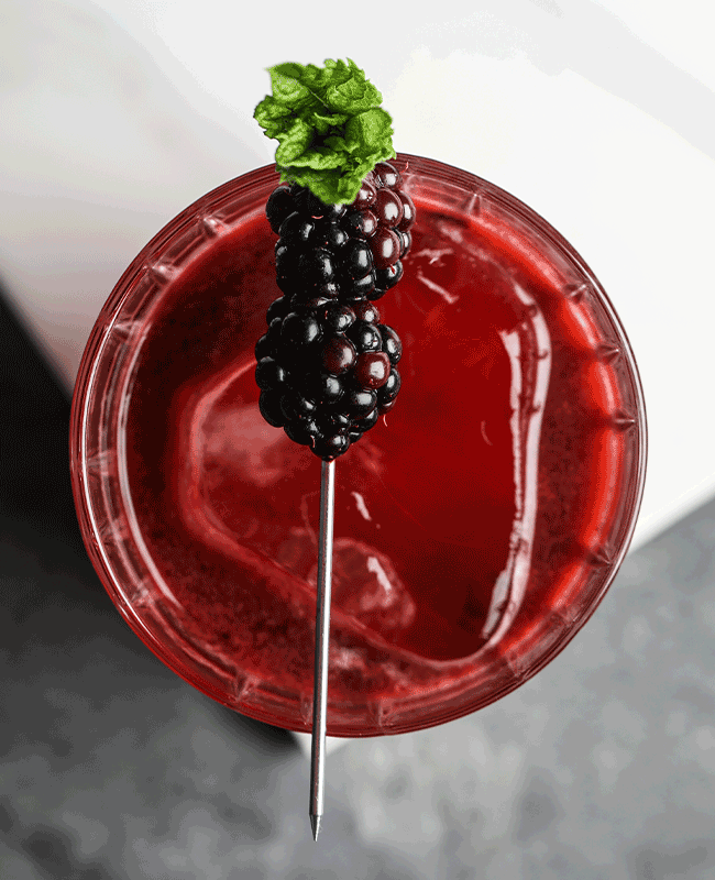 Blackberry Smash cocktail