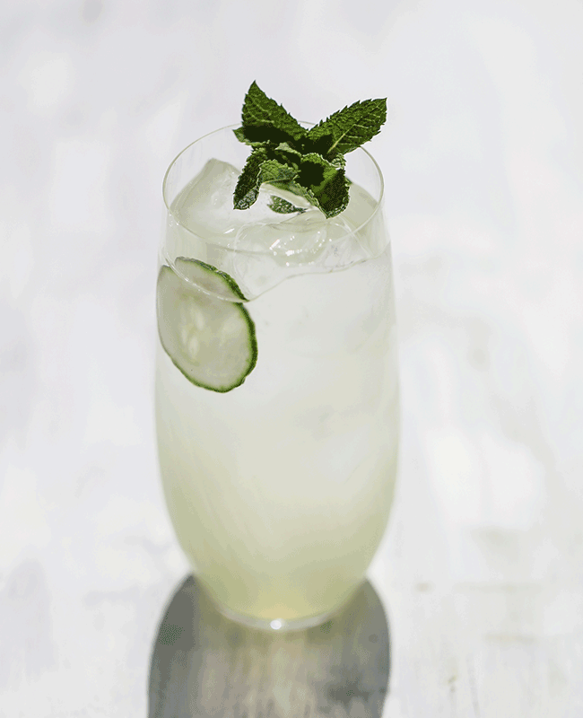 Cucumber Southside Cocktail
