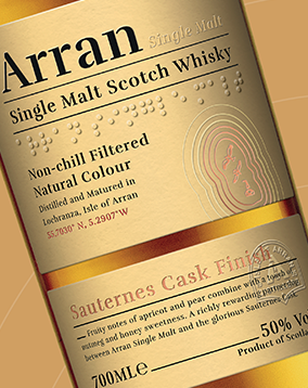 Arran Whisky Cask Finish bottle rebrand